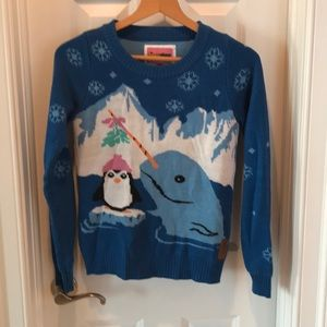 Tipsy Elves ugly Christmas sweater. Narwhal!!